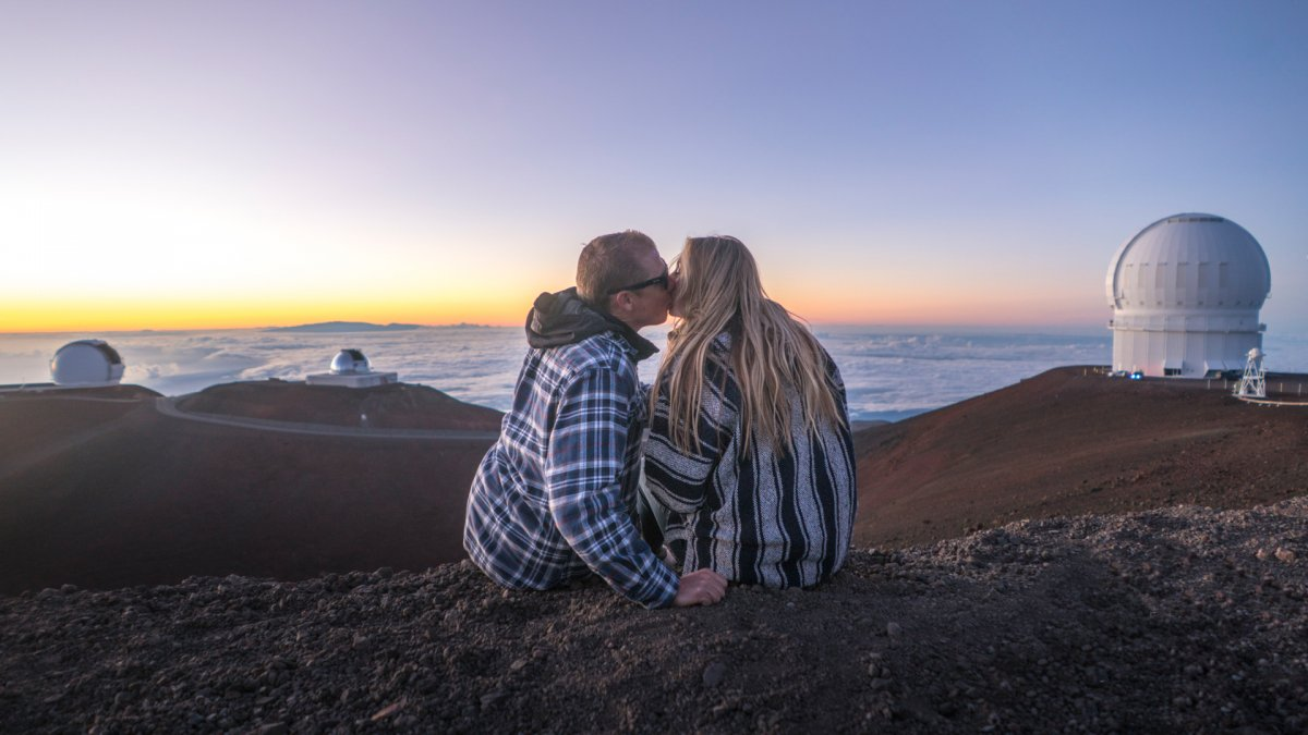 Mauna Kea surprise proposal couples photoshoot