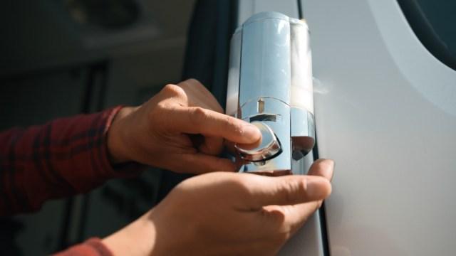 Go RV Sunscreen Dispenser