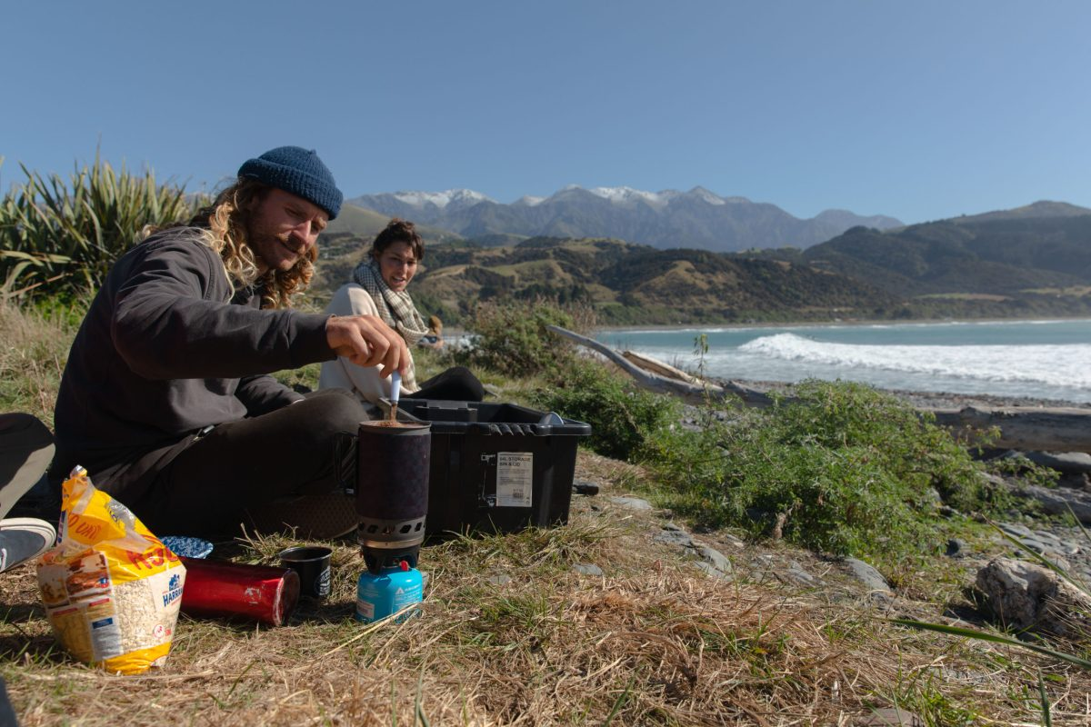 """Cameron Haylock, making sure no one goes without coffee in the mornings,"" says BenBen. ""If you're ever in Sumner, NZ and you're looking for the best coffee in town, Cam is the man to call. He also rips on anything you put under his feet."""