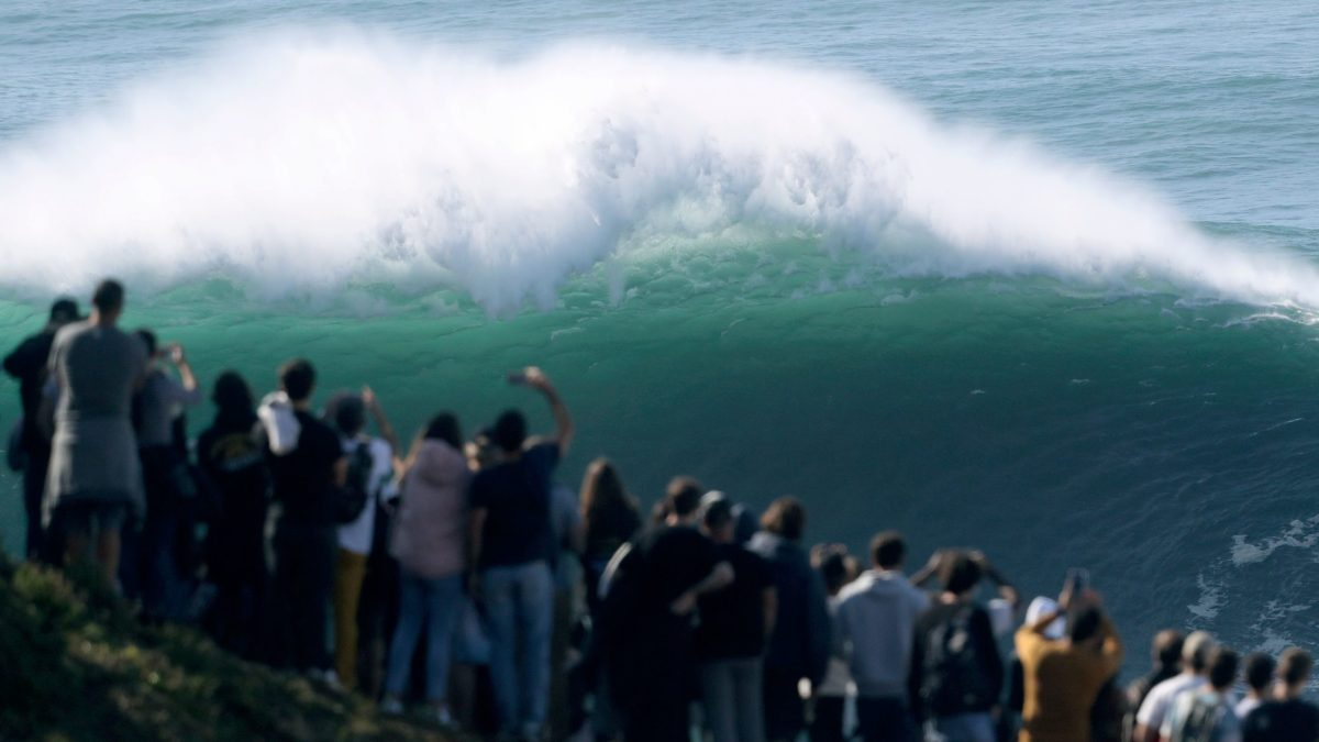Surfing Banned at Nazaré After Crowds Spark Covid-19 Concerns
