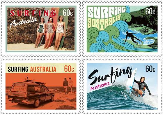 Surfing Stamps: the commemorative stamps of Surfing Australia's 50th Anniversary