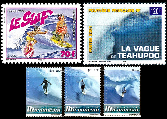 Surfing Stamps: some folks never learn surf etiquette