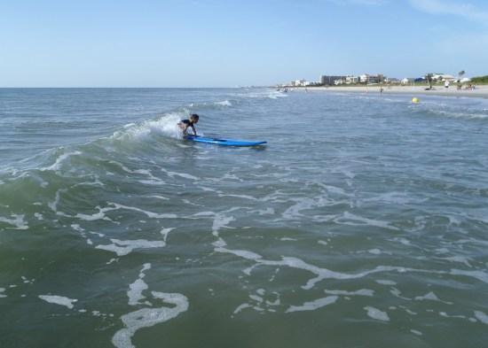 surfing during summer