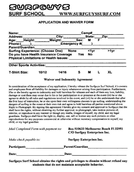 a_Surfguys_Application_and_Waiver