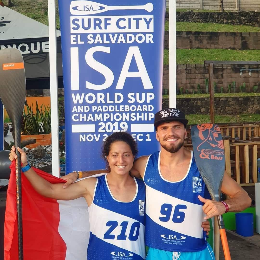 isa, world sup and paddleboard championship, 2019, el salvador, nika paddle surf camp, claudio nika, caterina stenta, pagaia, rrd design, campionato mondiale sup paddleboard, roll up, cappello con visiera, bandiera italiana