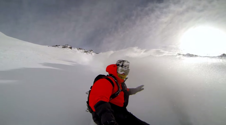 Video: Travis Rice gets powder blasted deep in the mountains of Chili