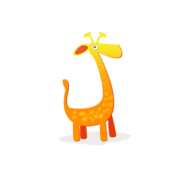 Drawing a Cute Giraffe in Photoshop