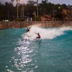 Photo by Adam Walker   Splitting a Peak in a Wave Pool