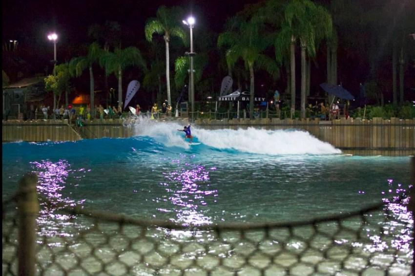 Trever Challenor surfing Typhoon Lagoon during Oakley Surf Shop Challenge