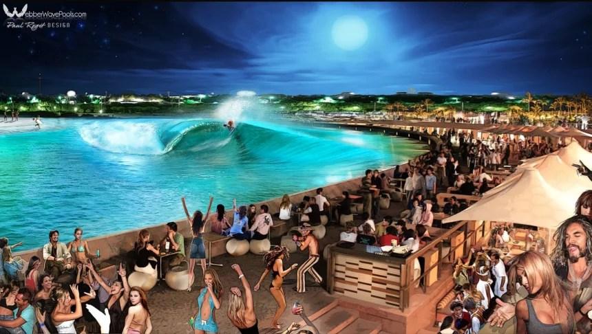 Webber Wave Pools Nightlife Rendering | Smorgasboarder Magazine Surf Park and Wave Pool Feature