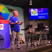 Dave shares with packed house at Christ Pacific Church