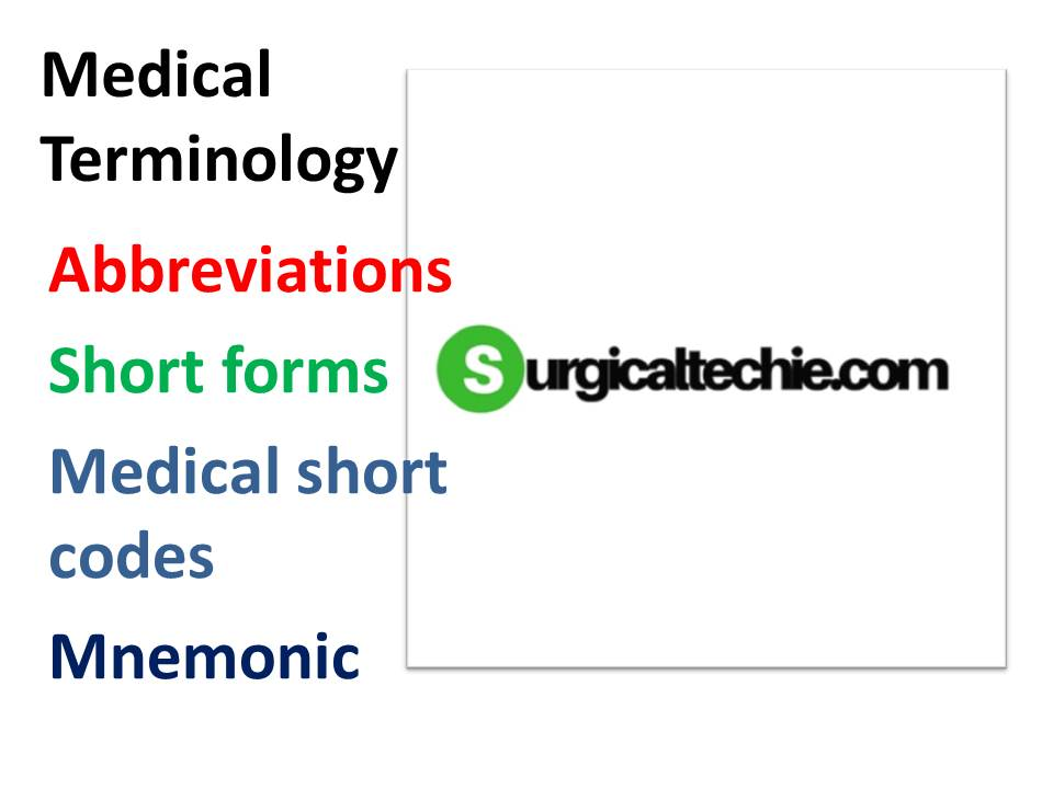 medical abbreviations starts with n o p surgical technology