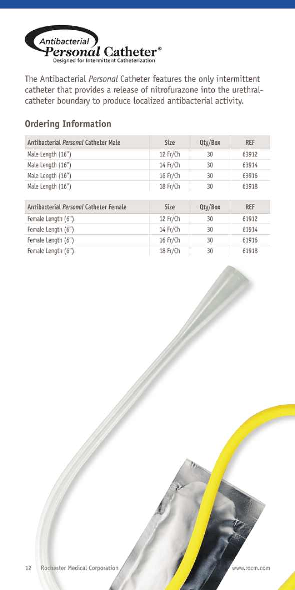 Bard Rochester Medical Antibacterial Personal catheters in India