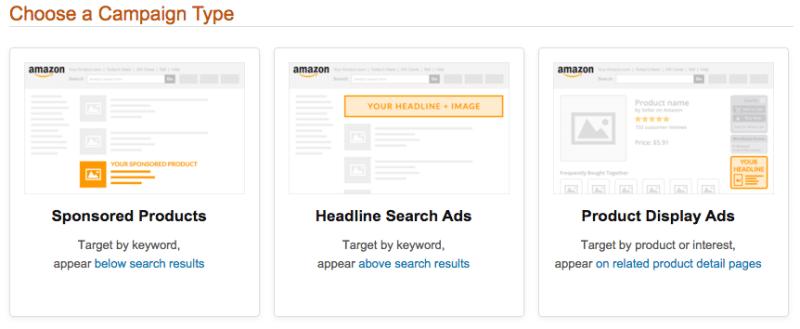 Publicité digitale - Analyse Amazon Advertising Platform - Types de campagnes