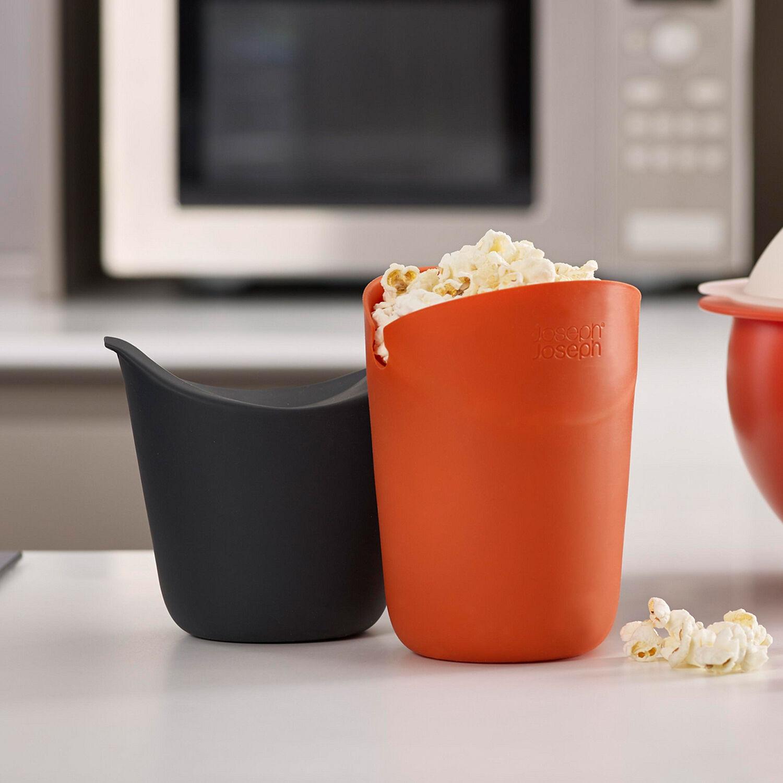 joseph joseph m cuisine microwave single serve popcorn maker set of 2