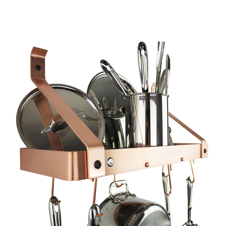 enclume brushed copper gourmet bookshelf rack