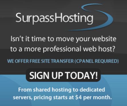 LEVEL UP your web site with Surpass Hosting - surpass your expectations!