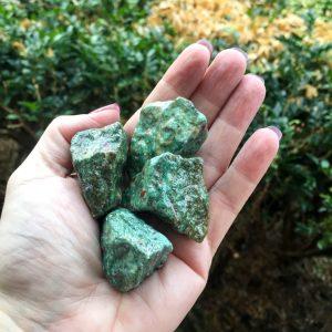 Ruby in Fuchsite specimen