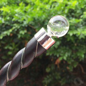 Rosewood healing wand