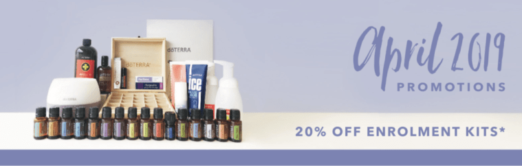 Save 20% on doTERRA essential oil enrolment kits in April 2019 with Melanie Surplice