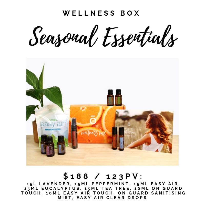 The doTERRA Seasonal Essentials Enrolment Kit helps you to fend of seasonal threats and lurgies