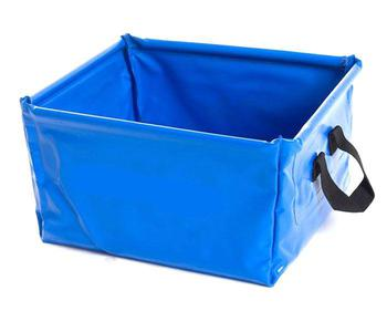 Wash Bowl / Bucket, new Collapsible Blue Bowl with carry handles