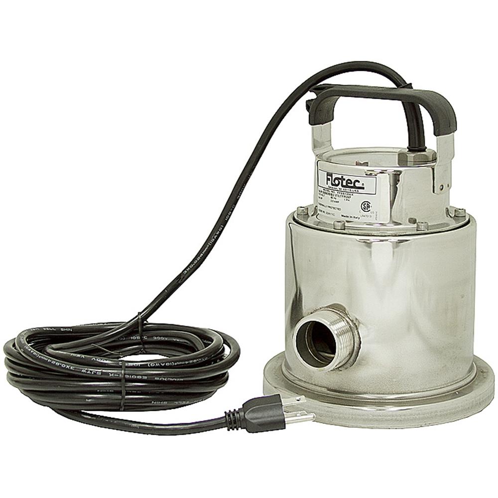 1 4 Hp Ss Flotec Submersible Utility Pump