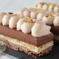 Entremets chocola'thé bergamote et gianduja