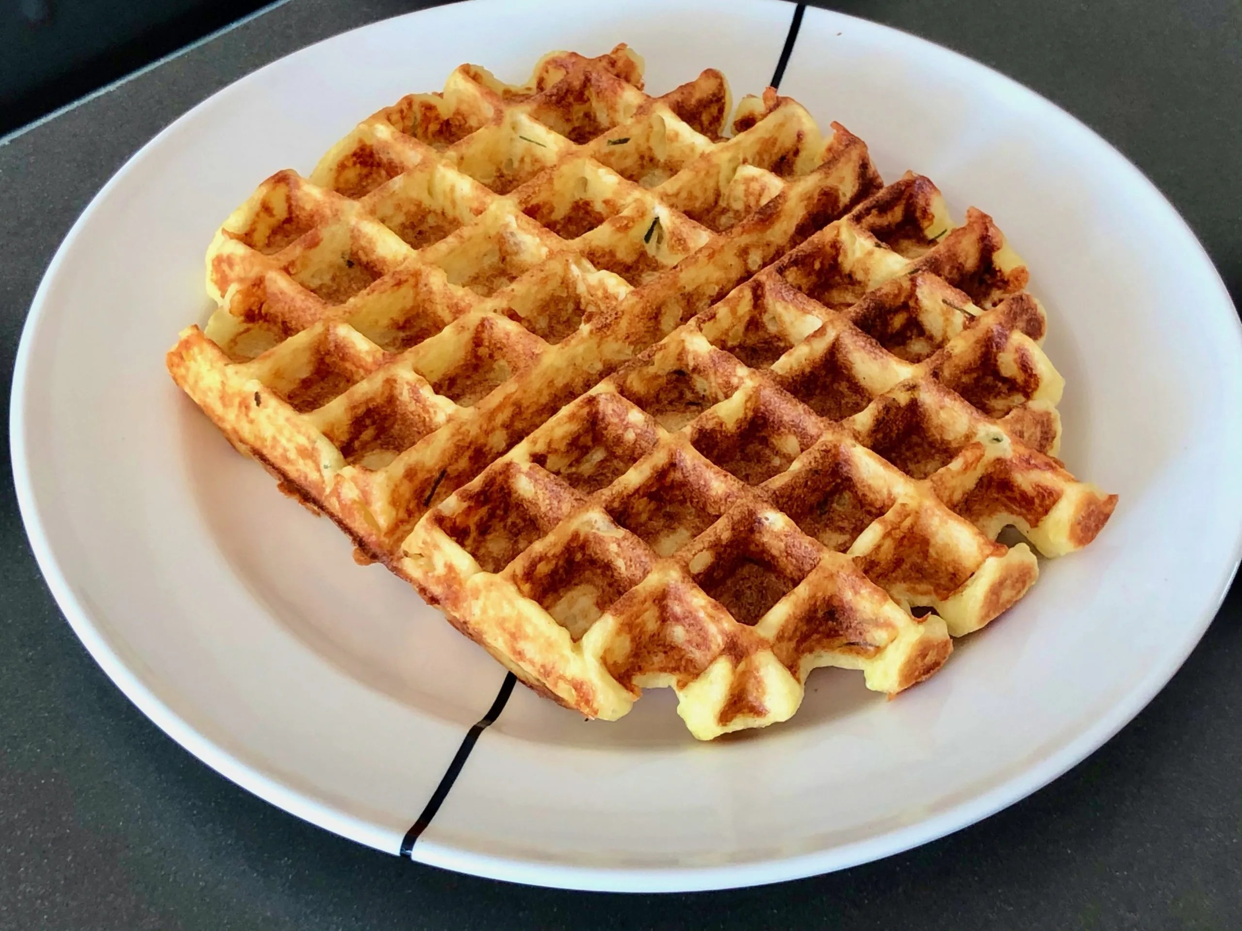 savoury potato waffles
