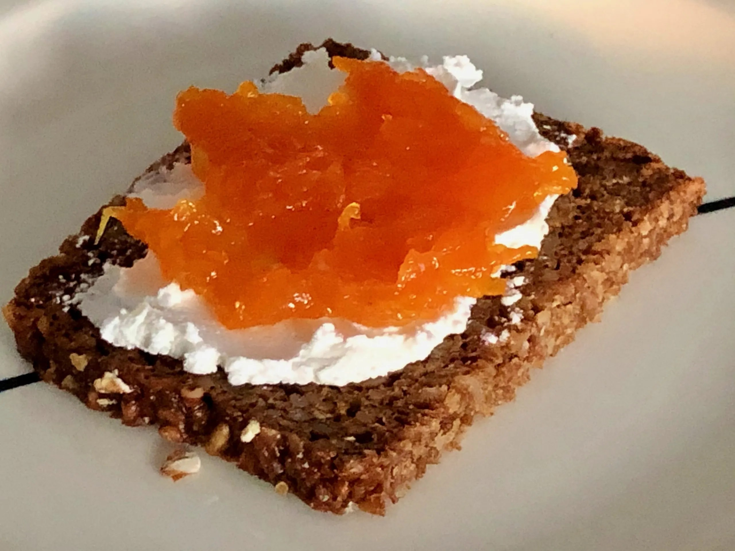 carrot jam with citrus for breakfast with goat cheese