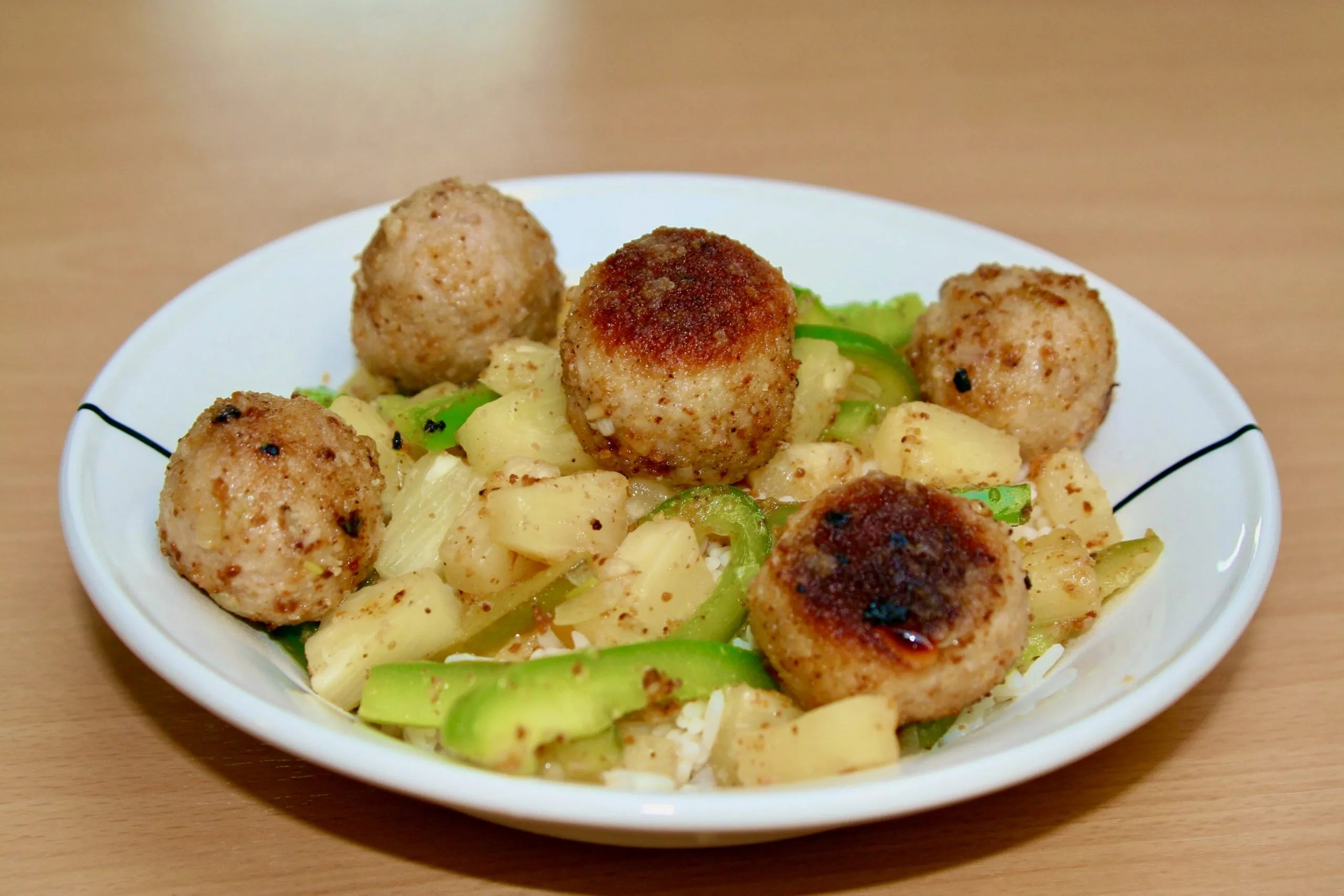 meatballs with pineapple and bell pepper from 2007