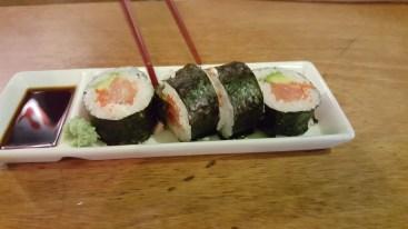 Tuna and avocado sushi
