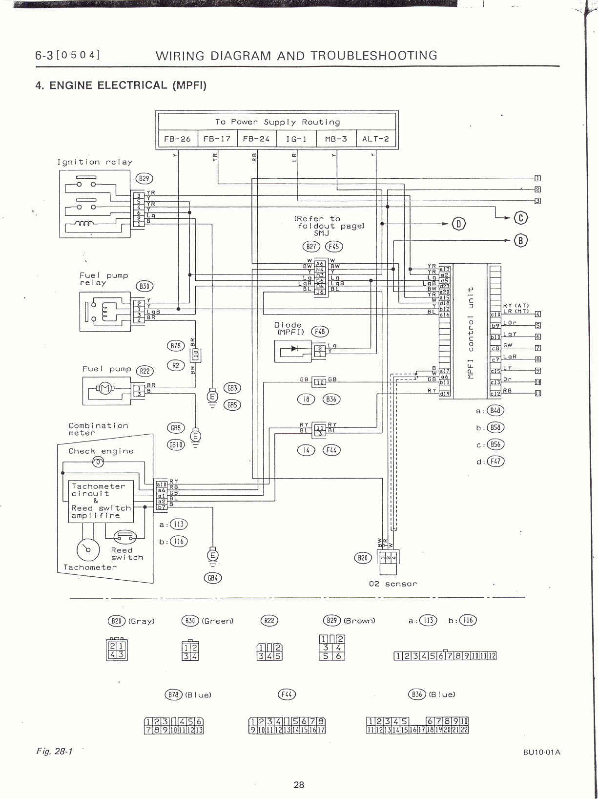 32 Subaru Wiring Harness Diagram