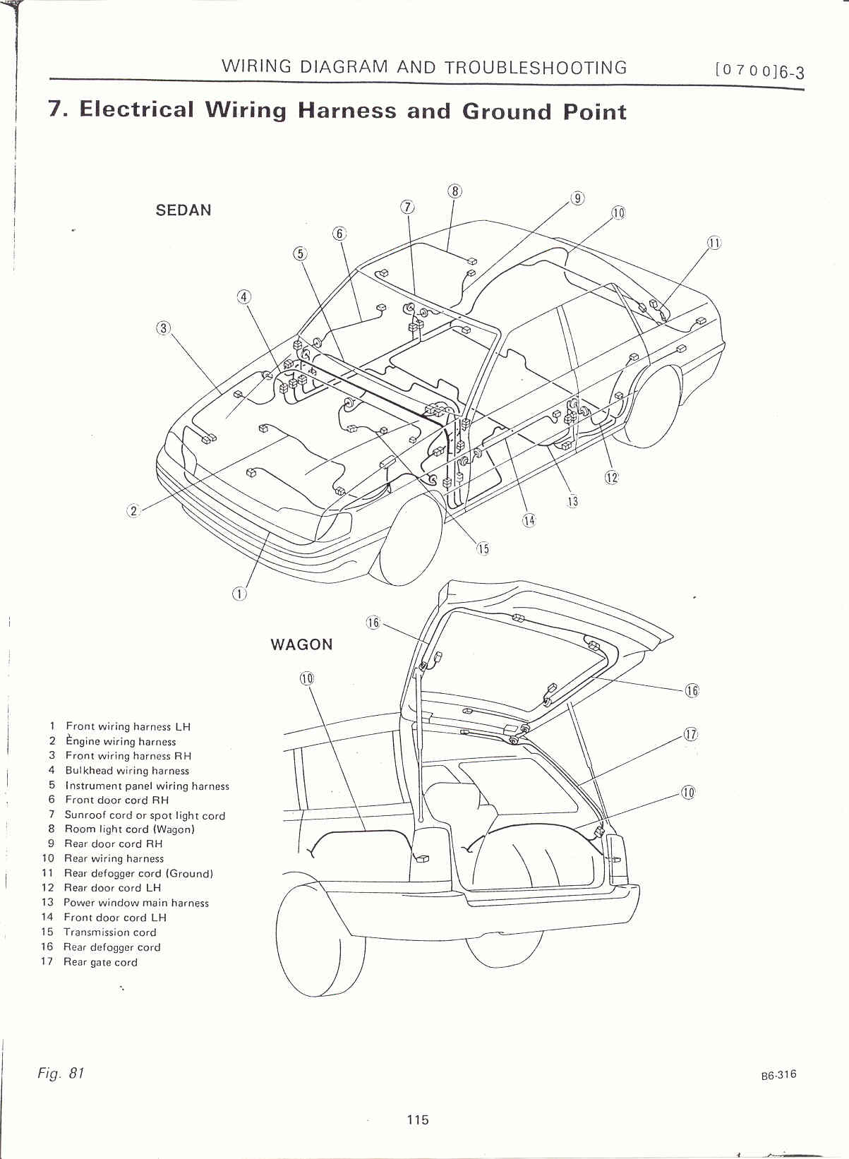 Subaru Outback Electrical Wiring Diagram
