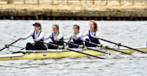 Women's Championship 4x taking 5th place at BUCS Head