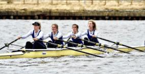 Women's Championship 4x taking 5th place at BUCS Head