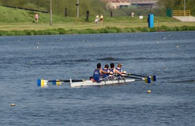 Men's beginner 4+ time trialling at BUCS Regatta 2018