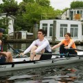 Beginners learning to scull