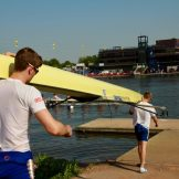 The men's championship pair boating.