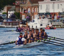 Temple 8+ racing at HRR (7 out of 8 men learnt to row at Surrey)