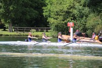 Academic 4+ at their time trial at Henley Women's Regatta