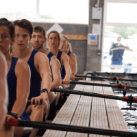 Athletes training in the tank at Molesey Boat Club