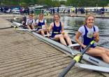 Women's beginner 4+ taking the win at Nottingham Regatta 2017.