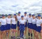 Ellie, Jas, Megan, Sophie, Jo (c), Jenna, Fiona, Naomi and Rachel