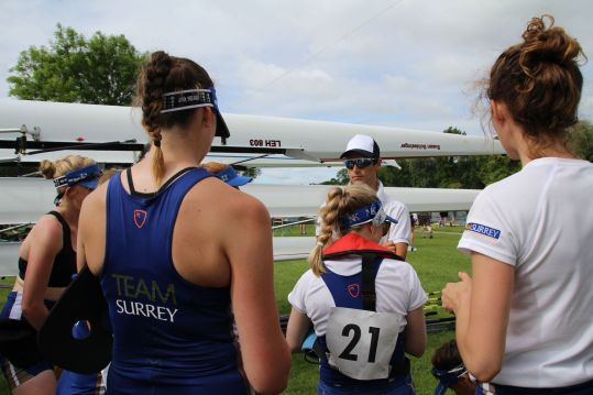 Post-race chat with coach Sam