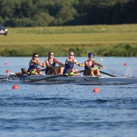 Senior women's coxed four at Met Regatta