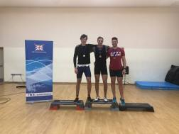 Ben (L) having come 2nd in the heavyweight 2k at BUCS Indoors 2018