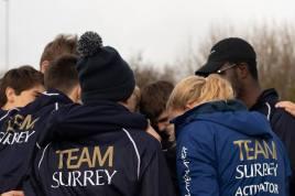 Men's beginner 8+ 'B' pre-race crew briefing