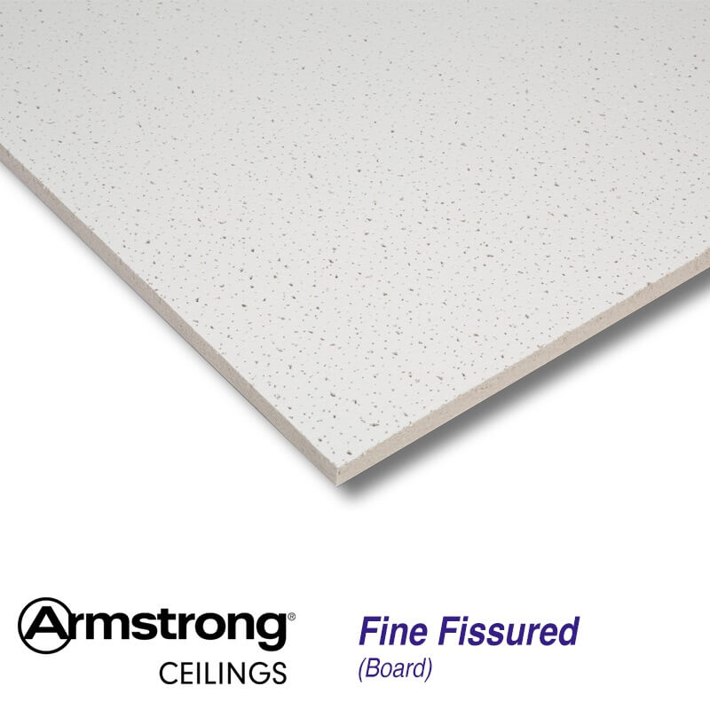armstrong fine fissured board bp9121m 600 x 600mm square edge ceiling tiles