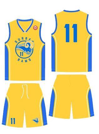 """THE RAMS"" Surrey Rams Home Uniform (Gold) f7658c55f"